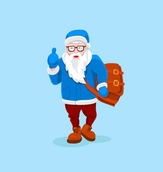 modern santa claus cool funny style character vector image