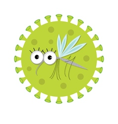 Mosquito Cute cartoon funny character Virus Zika vector