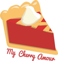 My Cherry Amour vector image