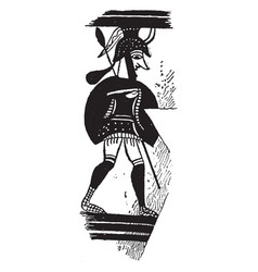 mycenae is a art on a greek vase vintage engraving vector image