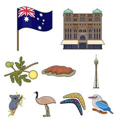 national symbols of australia web icon on vector image