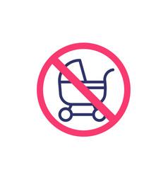 no baby carriage pram icon vector image