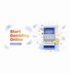 online casino banner template vector image