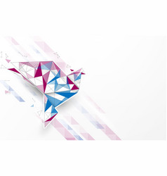 origami paper bird form lines and particle vector image