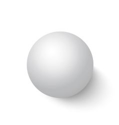 Photorealistic Isolated 3D Ball on a White vector