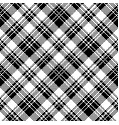 pixel check fabric texture black white seamless vector image