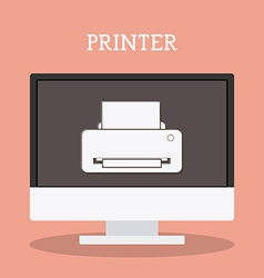 Printer design vector