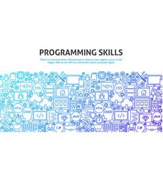 Programming skills concept vector