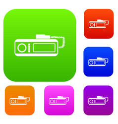 Radio taxi set collection vector