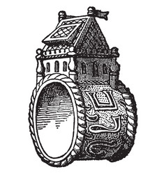 Ring is any circle vintage engraving vector
