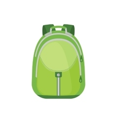 School Backpack Icon in flat style vector image