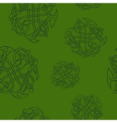 Seamless pattern with Celtic art vector
