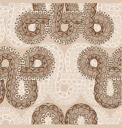 Seamless pattern with infinity tattoo template in vector