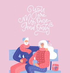 Senior couple in love elderly people sitting vector