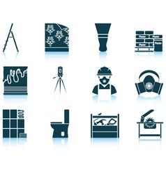 Set of flat repair icons vector