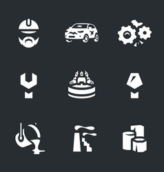 set of scrap processing icons vector image