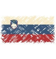 Slovenian grunge flag vector