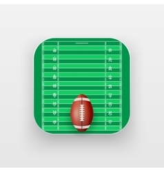 Square icon of American Football sport vector image