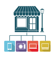 store online icon stock vector image