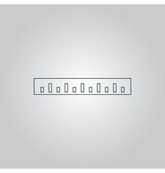 Straightedge icon vector image