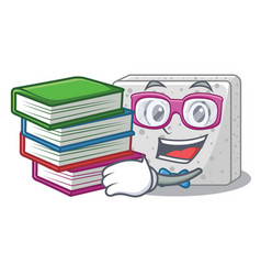 Student with book fresh feta cheese isolated on vector