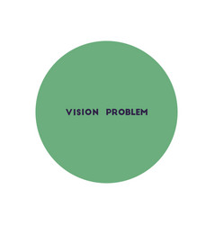 stylish icon in color circle vision problems vector image