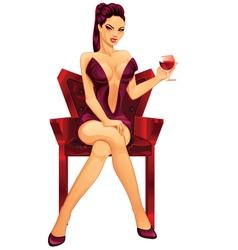 vampire lady vector image