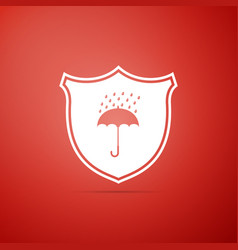 Waterproof icon isolated shield and umbrella vector