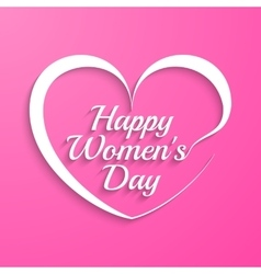 Woman Day lettering vector image