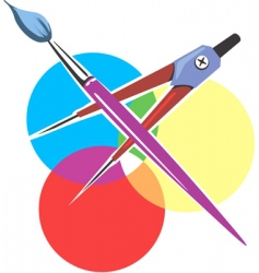 artist tools vector image vector image