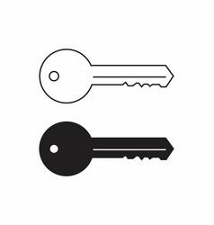 black and white keys vector image