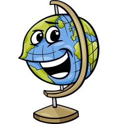 Globe character cartoon vector