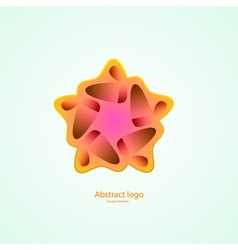 logo in the shape of a star design element vector image vector image