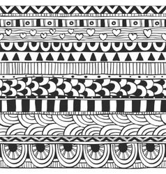 Seamless ornament from geometric elements doodles vector image vector image