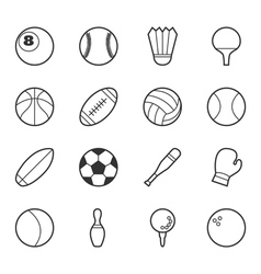 Set of sport icons eps10 format vector image vector image