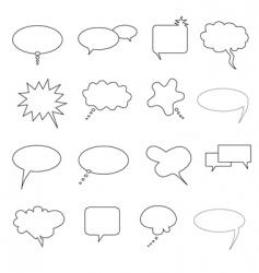 talk bubbles vector image vector image