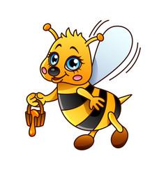 Cartoon bee isolated vector
