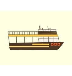 Color retro travel boat vector image vector image
