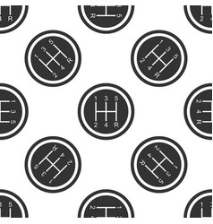 gear shifter seamless pattern transmission icon vector image