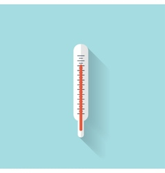 Medical thermometer flat icon Health care vector image vector image