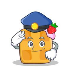 police waffle character cartoon design vector image vector image