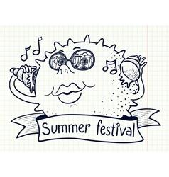 summer festival vector image vector image