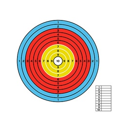 color target vector image