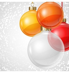 Holiday background card template with christmas vector image vector image
