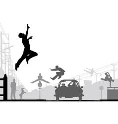 Parkour vector image