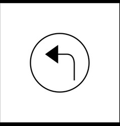 arrow back solid icon mobile sign and only left vector image
