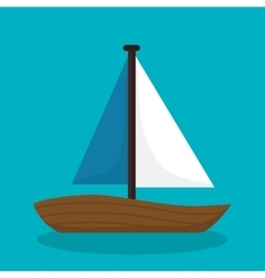 boat travel isolated icon vector image