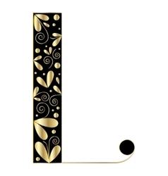 Decorative letter shape font type l vector