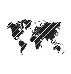 diagonal stripe world map vector image