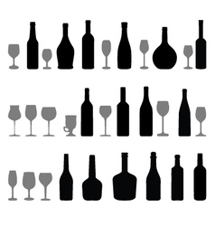 Glasses and bottles 2 vector